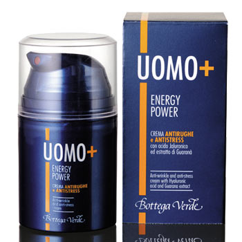Miesten UOMO+ Energy Power anti-stress -kasvovoide, 50 ml